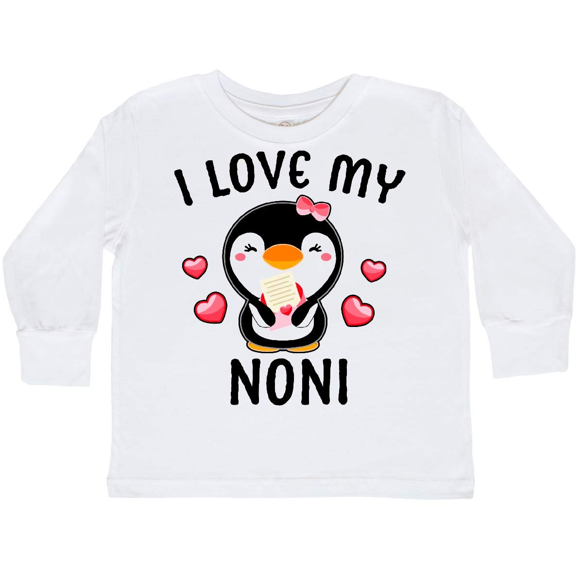 inktastic I Love My Noni with Cute Penguin and Toddler Long Sleeve T-Shirt