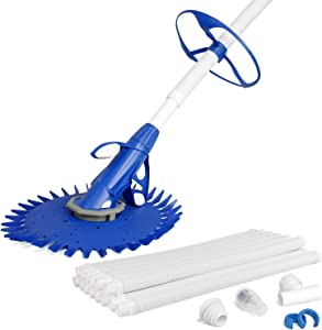 U.S. Pool Supply Professional Automatic Pool Vacuum Cleaner - Powerful Suction that Removes Swimming Pool Debris, Cleans Floors, Walls and Steps