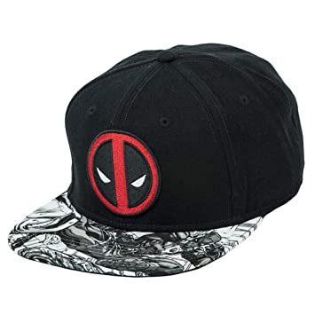 Marvel Deadpool Sublimated Bill Snapback Gorra De Béisbol: Amazon ...