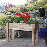 "CedarCraft - Elevated Self-Watering Standing Planter [ 19"" W x 42"" L x 30"" H ] Holds up to 2.4cu.ft of Soil"