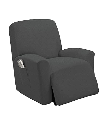 Fantastic Recliner Chair Slipcover Shield Form Fit Stretch Wrinkle Free Protector Cover For Recliner Remote Pocket Polyester Spandex Fabric Checked Onthecornerstone Fun Painted Chair Ideas Images Onthecornerstoneorg