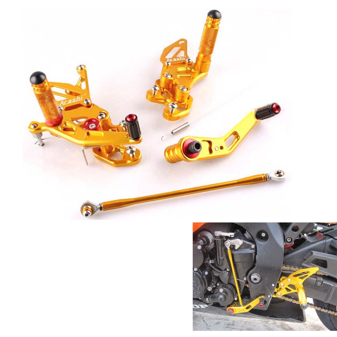 GSX-R 600/750 Rearsets Footpegs Rear Sets For Suzuki GSX-R 600 GSXR750 2006-2010 (K6 K7 K8 K9) Issyzone