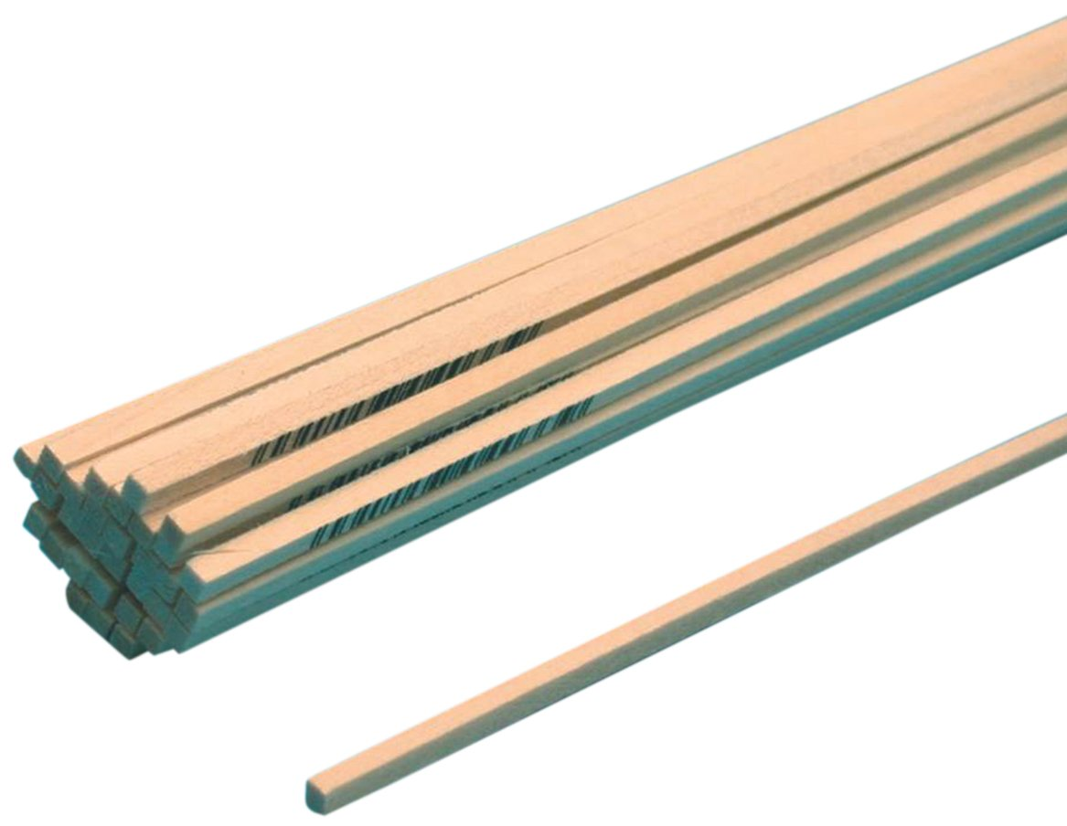Midwest Products Basswood Strip, 3/32 x 3/32-Inch, 60-Pack B4033