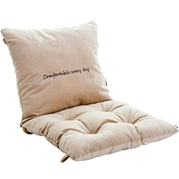 Nonslip Chair Seat Cushions And Lumbar Back Supports Pillow With String Tie  Backs Beige Grip Seating