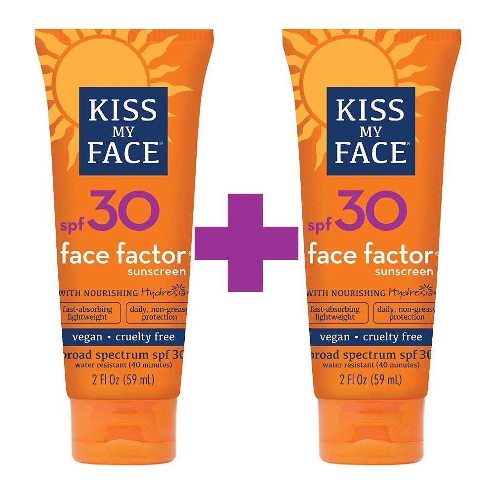 Kiss My Face Face Factor Natural Sunscreen SPF 30 Sunblock for Face and Neck, 2 Ounce Liberty Mountain Sports 23232443345353