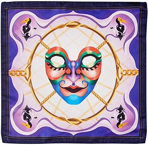 R. Culturi Made in Italy 100% Silk Pocket Square Original Artwork (Purple/White) Gift Box RCM002