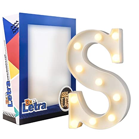 Don Letra - Letras Luminosas Decorativas del Alfabeto A-Z con Luces de LED para Decoración de