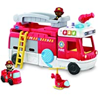 VTech Toot-Toot Friends 2-in-1 Fire Station - Interactive fire Truck and Station for Kids - 529803