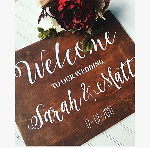 Rustic Wedding Decor, Wedding welcome sign, welcome to our wedding sign