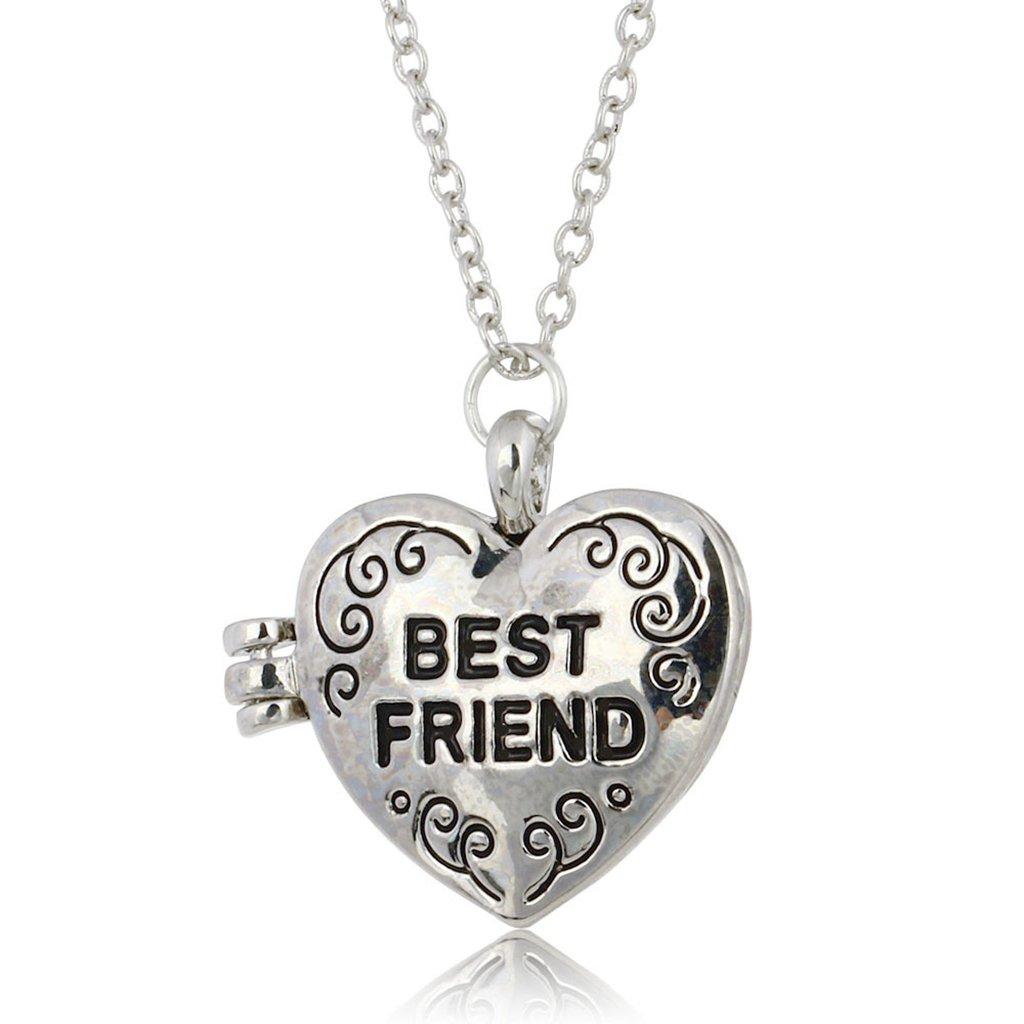 Amazon.com: Best Friend Necklace Vintage Locket Pendant Best Friend  Necklace: Jewelry