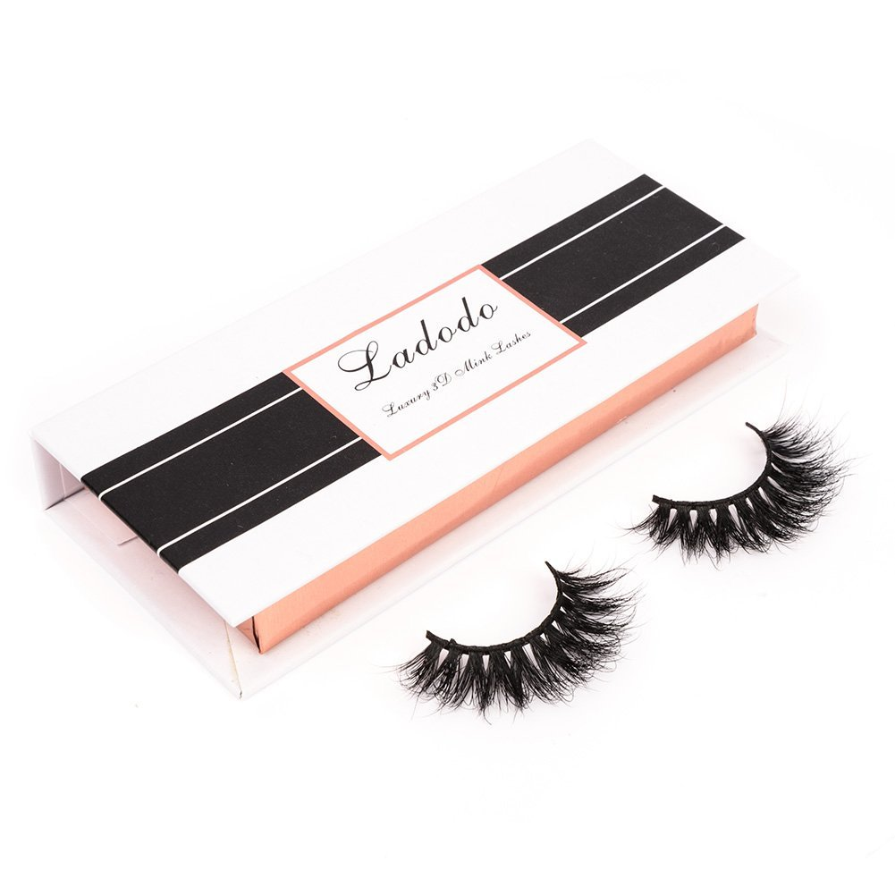 43231744e1b Amazon.com : Ladodo 3D False luxury Eyelashes 100% Siberian Mink Fur  Hand-Made Fake Eye Lashes Natural Fluffy Wispy Long Thick Reusable, 1  Pair/Box, ...