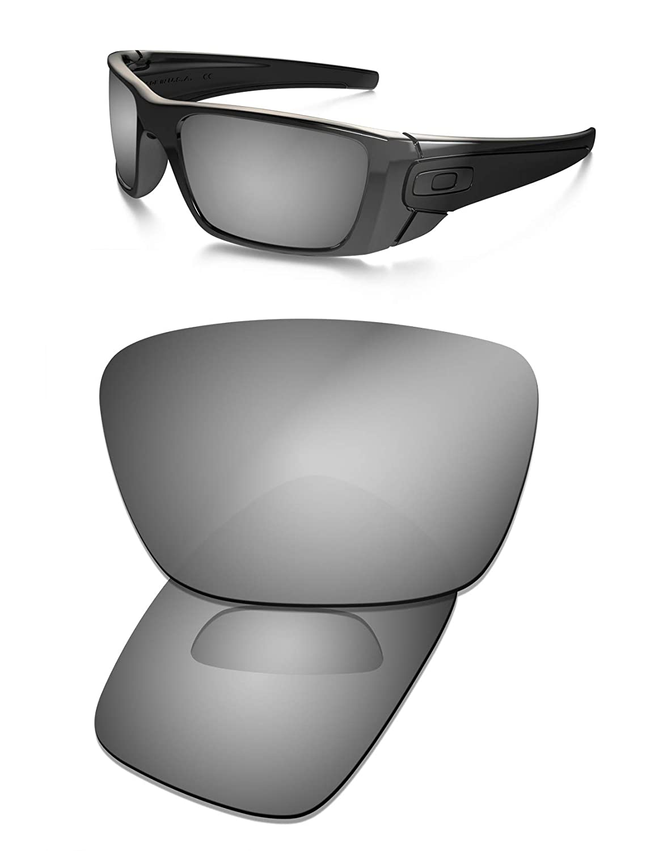 ff5d4db7c4f Amazon.com   Prizo Polarized Replacement Lenses for Oakley Fuel Cell  Sunglasses Black Iridium   Sports   Outdoors