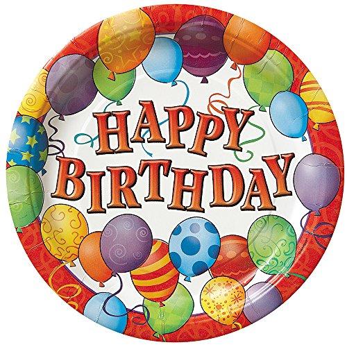 Balloons Birthday Dessert Plates, 8ct ()