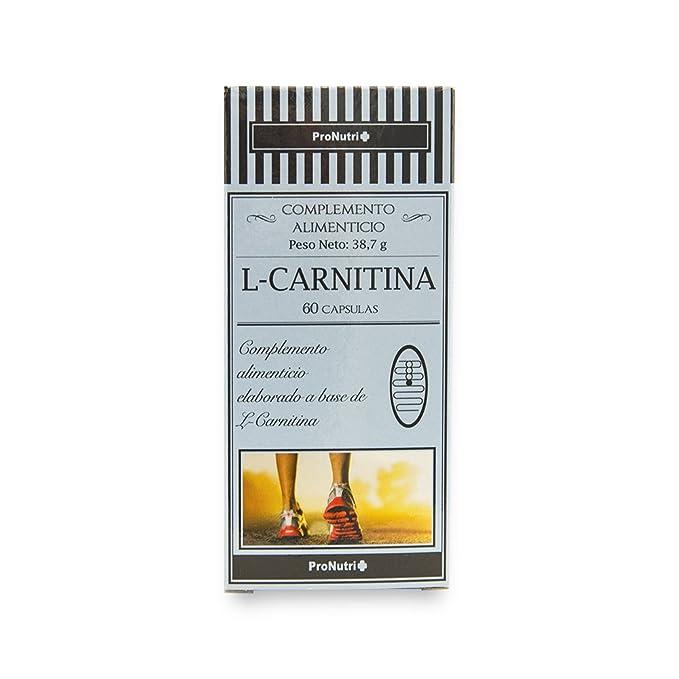 PRONUTRI Two Pack L-Carnitina 60 cápsulas: Amazon.es: Salud y cuidado personal