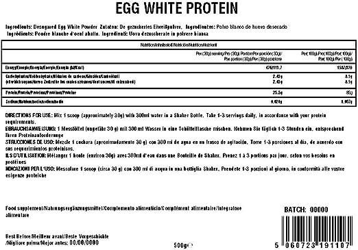 Health Hack - Clara de huevo en polvo, 500 g