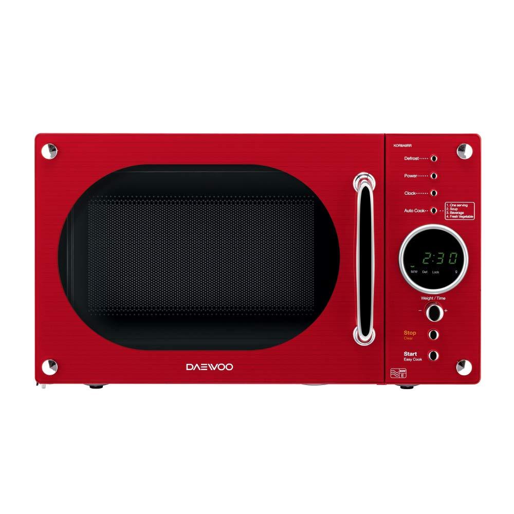 Daewoo KOR8A9RCR Retro Design Microwave, 800 W, 23 Litre, Cream