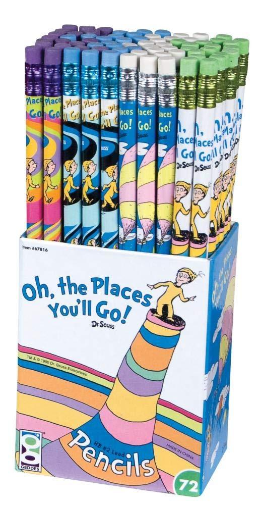 Dr Seuss Oh the Places You'll Go! Pencil Set, 72 Pieces (67816)