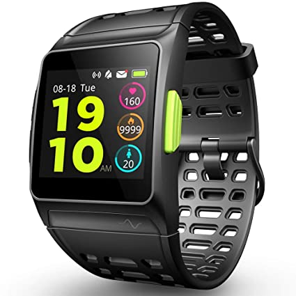 GPS Running Watch, Smart Watch Fatigue Analysis Heart Rate/Sleeping/Fatigue Monitor IP67 Waterproof Fitness Tracker with Multi-Sports Mode Message ...