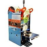 Máquina de sellado manual para tazas de 300 a 500 tazas/hora, selladora eléctrica para tazas de 180 mm de alto y 95 mm de cop
