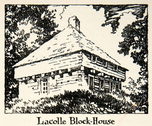 1947 Lithograph Lacolle Block House Fort Quebec Canada War 1812 Battle Mill Art - Original In-Text - Canada Oakley Military