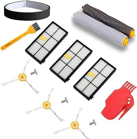 filtri di ricambio robot aspirapolvere accessori 800 850 851 860 865 866 870 871 876 880 885 886 890 891 896 900 960 966 980 12X Filtri Kit Di Ricambi per iRobot Roomba 800 serie e 900 serie
