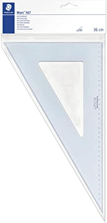 Image ofStaedtler 567 36-60 - Escuadra (36 cm, 60/30 grados), color azul translúcido