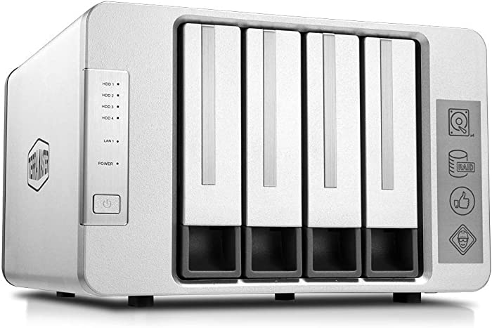 TerraMaster F4-210 4-Bay NAS 1GB RAM Quad Core Network Attached Storage Media Server Personal Private Cloud (Diskless)