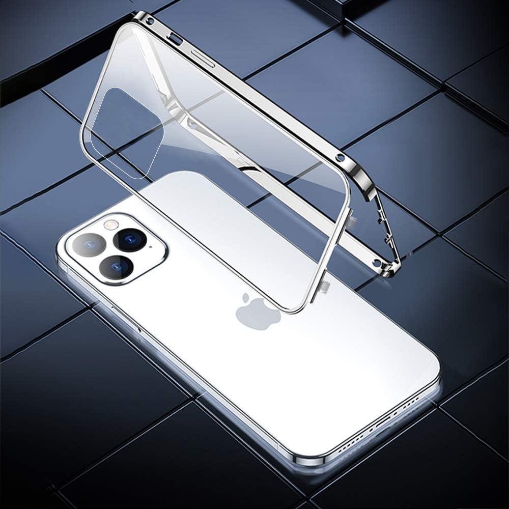 Ellmi Funda para iPhone 11 Anti Separar Carcasa Vidrio Templado Cover 360 Protecci/ón Metal Case Anti Oto/ño Antichoque Carcasa para iPhone 11 Rojo