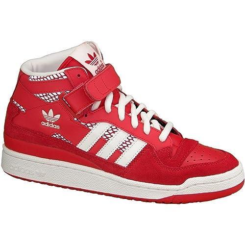 Adidas - Forum Mid RS - Color: Blanco-Rojo - Size: 45.3: Amazon.es: Zapatos y complementos