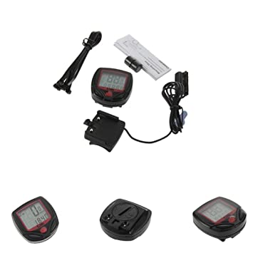 Encendido automático, para bicicleta odómetro ordenador de bicicleta velocímetro retroiluminación LCD – sensor de movimiento