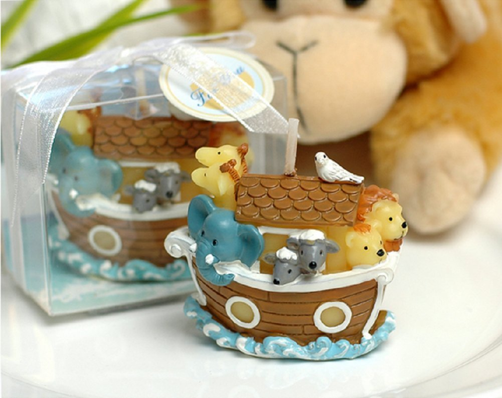 Red Cherry cartoon boat with animals candles for kids birthday