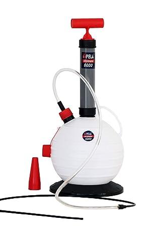 Pela 6000 Extractor Aceite Motor Coche Máquina Auto Fueraborda Lancha Cambio Aceite Gasóleo Combustible Diesel Bomba Líquido Fluido Freno 6 Litros Extractor Aceite Bomba Succión Petróleo Bomba Manual