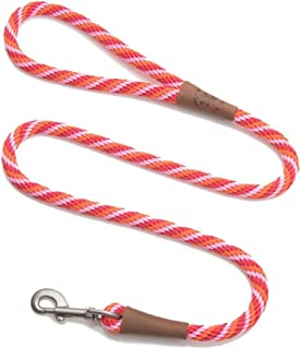 product image for Mendota Pet Snap Leash - British-Style Braided Dog Lead, Made in The USA - Taffy, 1/2 in x 6 ft - for Large Breeds