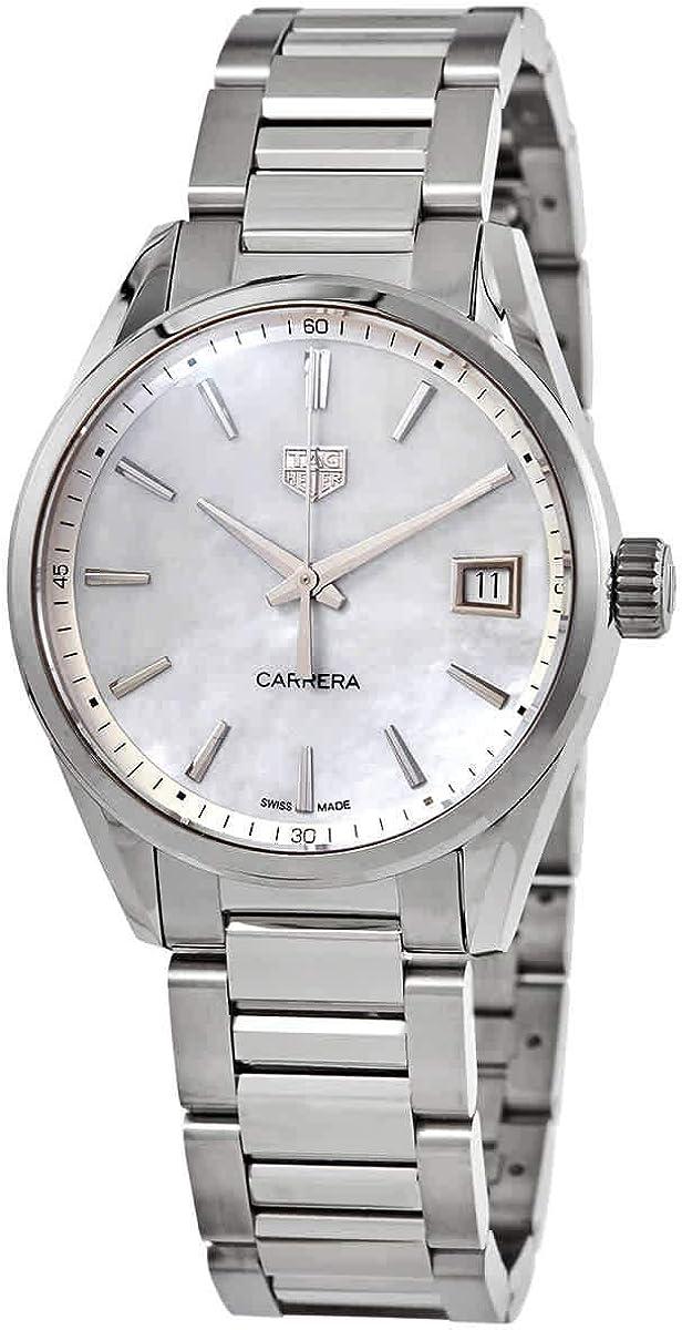 Tag Heuer Carrera WBK1311.BA0652 - Reloj de Cuarzo con Esfera de nácar, Color Blanco