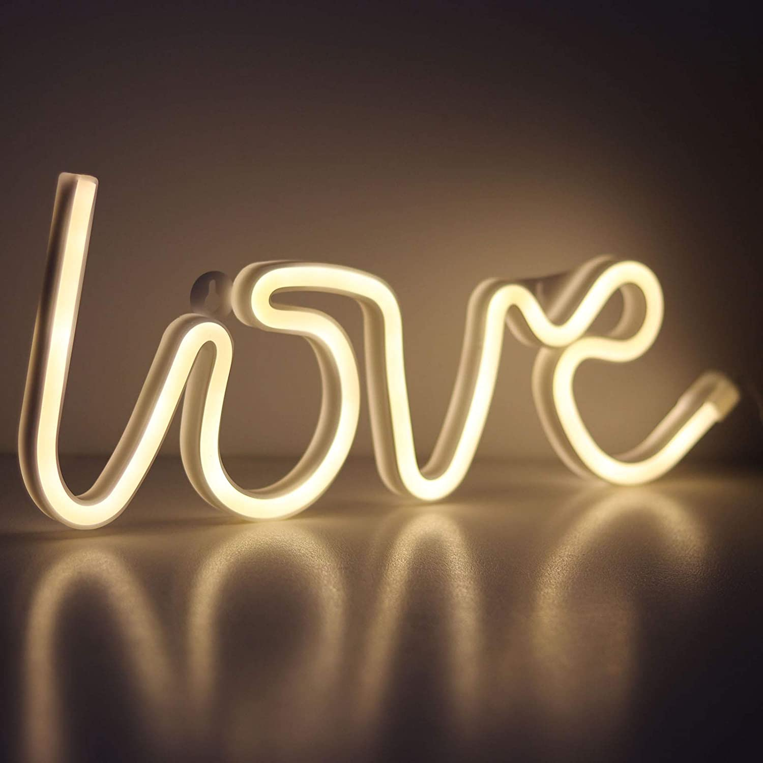 AIL Love Letter Blue LED Neon Sign Wedding Party Decoration USB /& Battery Powered Aesthetic Night Lights Wall Art Neon Lamps for Girls Bedroom,Dorm,Bar,Valentines Day Birthday Gifts