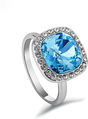 bague swarovski cristal bleu