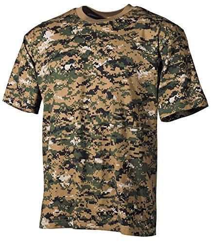 Marines Marpat Army T-Shirt Digital Woodland Camo SIZE L ()