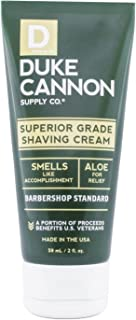 product image for Duke Cannon Supply Co. - Superior Grade Travel Size Shave Cream, Smells Like Accomplishment (2 oz) Superior Grade Shaving Cream for The Least Irritating Shave Ever - Bergamot and Black Pepper