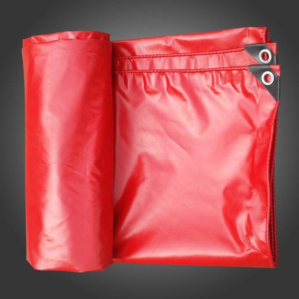 DUO Telone da esterno Panno antipioggia rosso impermeabile Protezione solare Addensato Tettuccio parasole Tela grossa per camion Tarpaulin 0.42mm, -530 G M², 10 Opzioni di misura