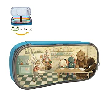 e40794660ff9 Amazon.com   Custom Dream Animals Pencil Case - Big Capacity Double ...