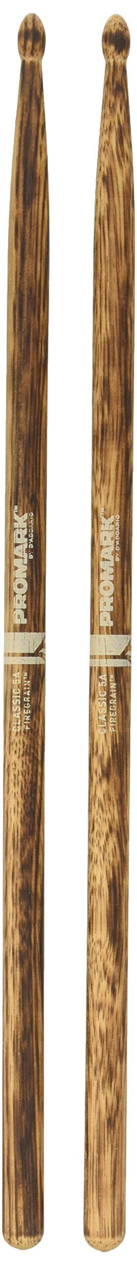 Promark TX5AW-FG FireGrain Classic 5A Drumsticks, Oval Tip