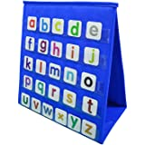 """Godery Tabletop Pocket Chart, Double-sided & Multiuse Pocket Chart - Numbers and Words Activities, Class, Family Educational Tool (13""""X12"""")"""