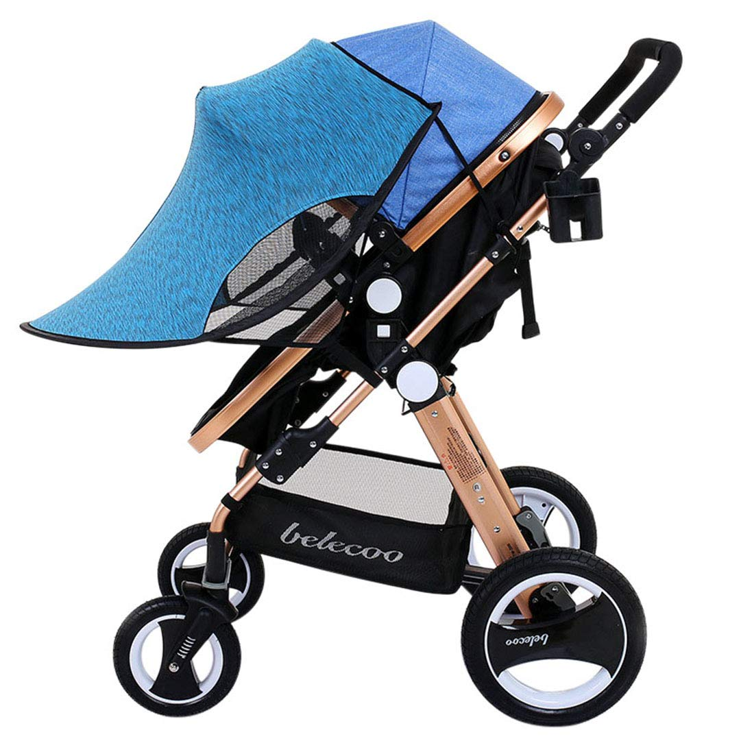 Bverionant Baby Stroller Sun and Rain Shade Awning Anti-UV Umbrella Canopy Universal Fit for Seat(Blue) by Bverionant