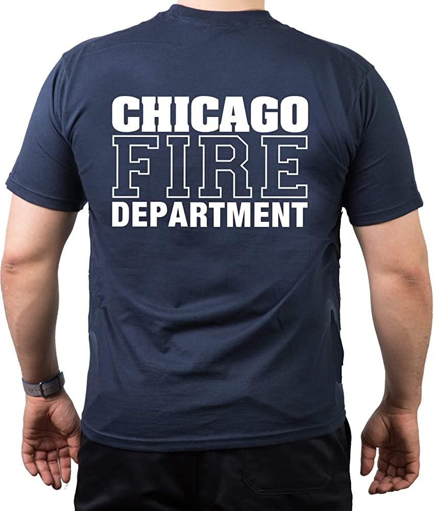 T-Shirt/Camiseta (Navy/Azul) Bomberos CHICAGO FIRE en blanco, XS: Amazon.es: Ropa y accesorios