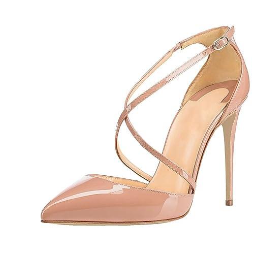 Scarpe Tacco Con Alla Caviglia Donna Cinturino 12cm Elashe bgyvfY76