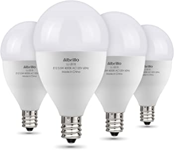 4-Pack Albrillo E12 40-Watt Candelabra Bulbs