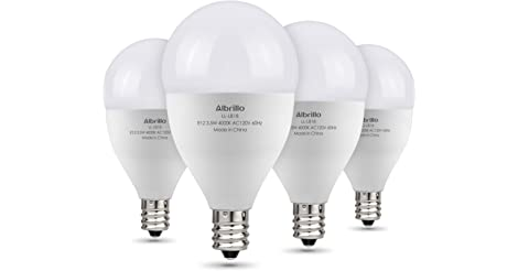 4-Pack Albrillo E12 40-Watt Candelabra Bulbs only $5.49