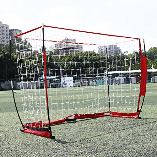 Eshion Portable Soccer Football Goal Net 6 x 4 ft Bow Frame Style Iron Pole for Playground Backyard Training by eshion