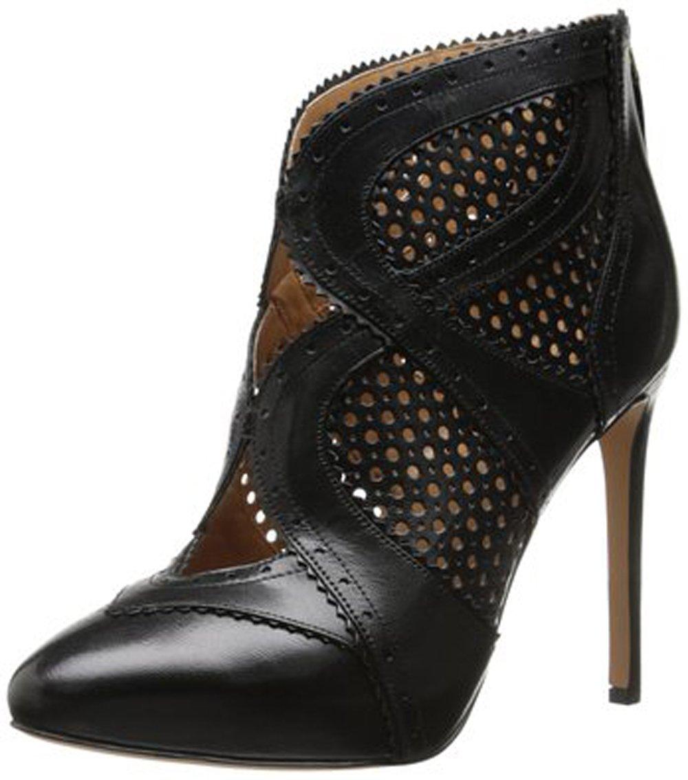 Nine West Women's Niscayuna Leather Dress Pump, Black/Black, 10 M US