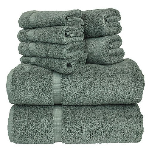 Luxury Hotel & Spa Bath Towel Set Turkish Cotton Towel Bundle Total 8-Piece Set, 2 Bath Towel 27